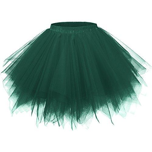 Grünen Tutus - GirstunmBrand Damen 50er Vintage Tüllrock Petticoat