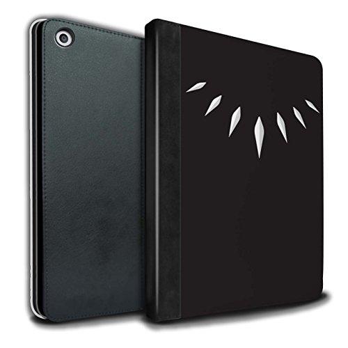Stuff4® PU-Leder Hülle/Case/Brieftasche für Apple iPad 9.7 (2017) Tablet/T'Challa Klauenhalskette Muster/Schwarzer Panther Inspiriert Kollektion -