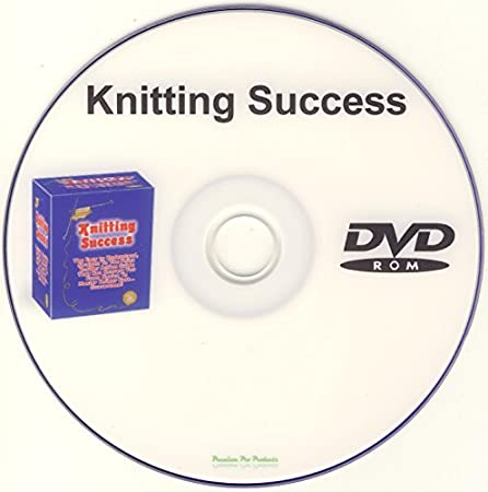 Knitting Success eBook on DVD-ROM For Beginners Patterns Techniques Knit Knits Stitches Learn Easy Book