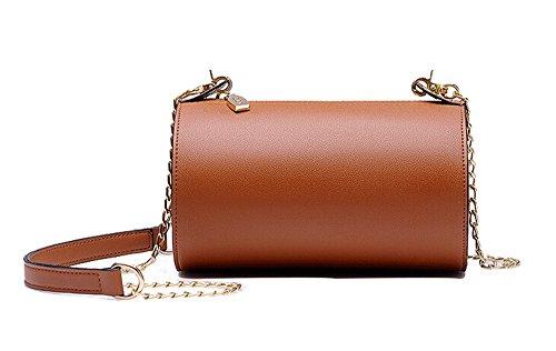 Rangement pour sac à main pour femme en fausse fourrure Simple & Fashion épaule Messenger-Sac-Fille-Petit sac à main-Marron