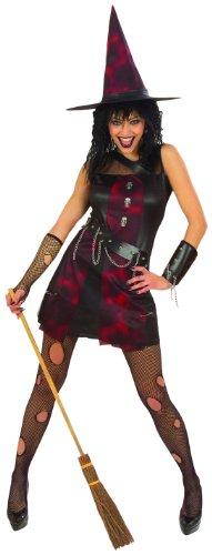 Widmann 56631 - Kostüm Punk Hexe, Kleid, Armband und Hut, Größe S