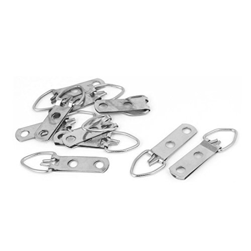 DealMux Picture Photo Frame Hanging trous double triangle D-Ring Hanger 48 mmx16 mm 10pcs