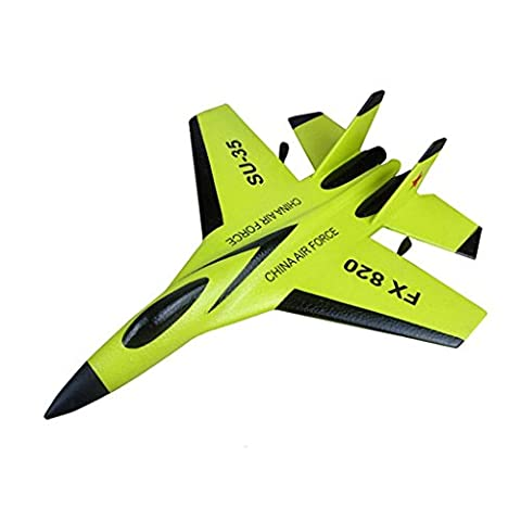 JIANGfu Remote Control RC Helicopter Plane Glider Airplane Toys 2CH 2.4G (A, Green)