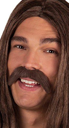 Boland 01812 - Schnurrbart Hippie, Einheitsgröße, braun