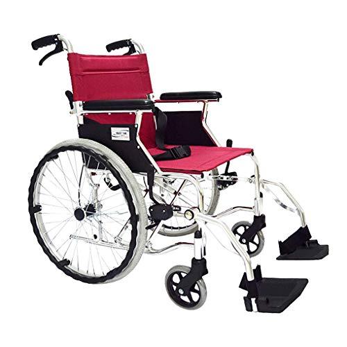 L-Y Sedia a Rotelle per Trasporto su Sedia a Rotelle Sedia a Rotelle per Auto Portatile Spinta Staccabile Pieghevole Ausilio per la Deambulazione (Stile: Pneumatico), Sedia a rotelle, Pneumatico