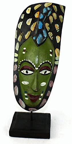 afriqueartdecoration.com Masque Passport Ancien sur socle-7827