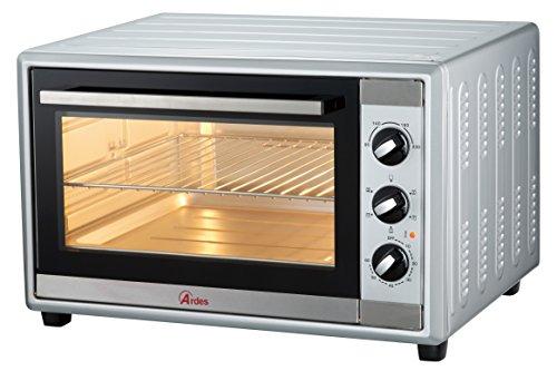 Ardes ar6236s forno elettrico ventilato gustavo silver 36 litri luce interna, 6 funzioni cottura, timer, doppio vetro, con accessori, 1500 w, argento