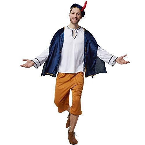 Herren Bauern Kostüm Für - dressforfun 900529 - Herrenkostüm höfischer Herold, Mittelalterkostüm aus Vier Teilen (L | Nr. 302652)