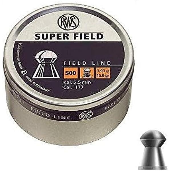 Tin of 500 X RWS SUPERFIELD .177-4.52mm AIR RIFLE AIR PISTOL PREMIUM PELLET