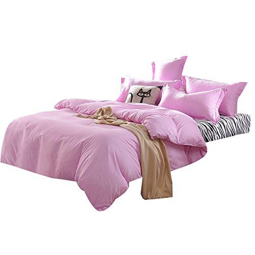 HUYURI Home Textile 1500 Serie Bettwäsche Bettwäsche Volltonfarben Zebra Streifen Queen Double King Full Size
