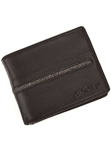 Nixon Coastal Arc Bi-Fold Coin Wallet Münzbörse, Schwarz -