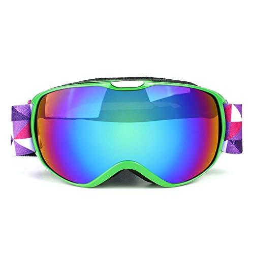 JXS-Goggles Kinderskiegenbrille, 1 Lagen RVEO Lens, Anti-Fog und Schnee-Proof,E