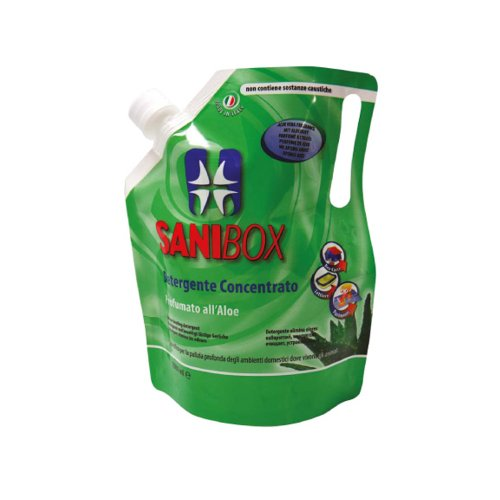 Sanibox Detergente Concentrato Elimina Odori Profumato Aloe 1 Litro