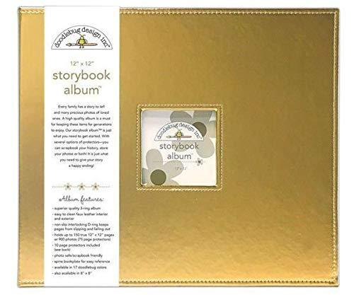 Album 30,5x30,5cm D-ring-Gold, Doodlebug Design Inc, 30x30cm, Alba Blöcke, Scrapbooking Papier - Doodlebug Doodlebug Design Album