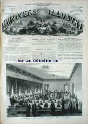 UNIVERS ILLUSTRE (L') [No 856] du 19/08/1871 - COURRIER DE PARIS - INSTALLATION DE LA COUR DE CASSATION AU PALAIS-ROYAL - SOUVENIRS DE LA COMMUNES - DEROUTE DES FEDERES AU POONT D'ASNIERES.