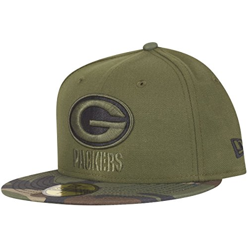 New Era 59Fifty Cap - Green Bay Packers wood camo - 7 7/8 (Bay Green Xxl Mütze Packers)