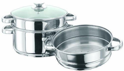 Vinod Cookware 3 Tier Steamer, 20cm