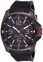 ساعة يد كوارتز لركوب الأمواج للرجال من تومي هيلفجر، شاشة انالوج وسوار من الستانلس ستيل 1790708