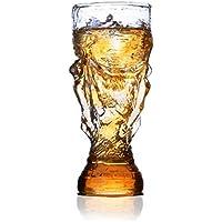 HRRH Jarra De Cerveza - Forma De Trofeo De Cristal Para La Barra De La Familia Suministros De La Fiesta Del Club El Mejor Regalo Para Su Fanático Del Fútbol ...