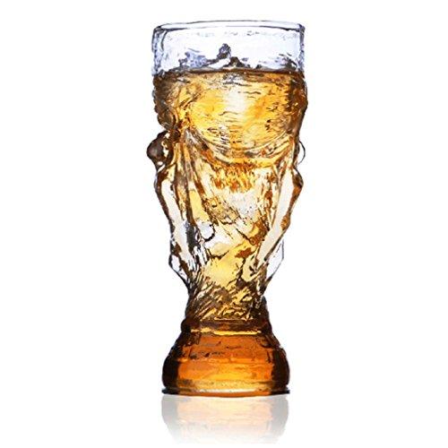 HRRH Bierkrug Glas Trophäe Form Für Familie Bar Club Party Supplies 2018 Russland FIFA Football World Feier 850 ML/29,91 OZ, 1/2/3/4/5/6 Tassen,1Cups