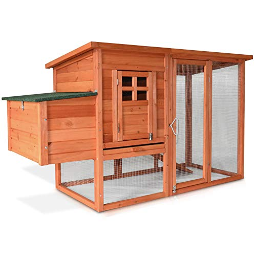 Zooprimus Hühnerstall 131 Geflügelhaus - Hühnervoliere XXL - Stall für Außenbereich (für Kleintiere: Hühner, Geflügel, Vögel, Enten usw.) -