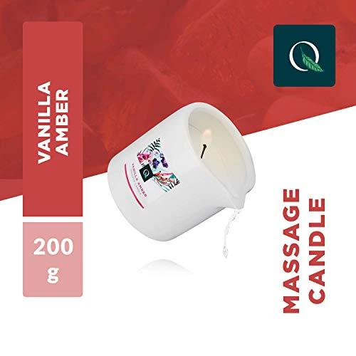 Exotiq Candela da Massagio Vanilla Amber (200 gr - 7 oz) con un Effetto Morbido e Caldo per un Massaggio Rilassante - Perfetto per un Massaggio Rilassante - Effetto nutrient, Skin Friendly, Rinfescant