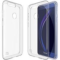 Honor 8 Custodia. Kingshark ultra caso della copertura della cassa [sottile sottile] gomma flessibile del gel di TPU molle del silicone pelle protettiva per Huawei Honor 8 Trasparente