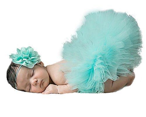 jisen® Baby Newborn Fotografie Props Baby Mädchen Lovely Kostüm Outfits Tutu Kleid mit Blume Stirnband