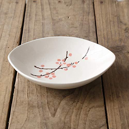 RKY Bol- Bol de salade de style japonais et le vent d'olive de ménage vaisselle créative hôtel sushi glaçure couleur plat en céramique plat plat plat - 4 couleurs /-/ (Couleur : Red plum)