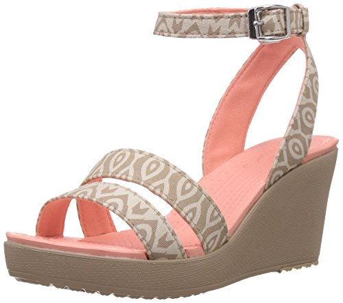 Crocs - - Leigh Wedge saffico grafica Stucco/tumbleweed