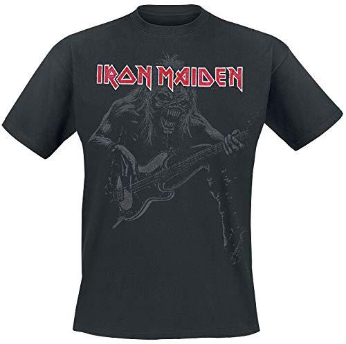 Iron Maiden Eddie Bass Camiseta Negro L