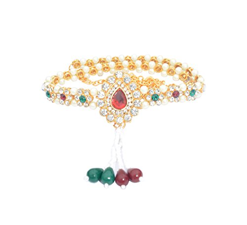 GREAT INDIAN SEAL MEG HA OFFER 85% OFF Exclusive Designer Kamar Bandh Gold Overlay kundan Belly Chain kamarbandh For Women Hurry up offer Especially Design By MTC JEWELLERS  available at amazon for Rs.220