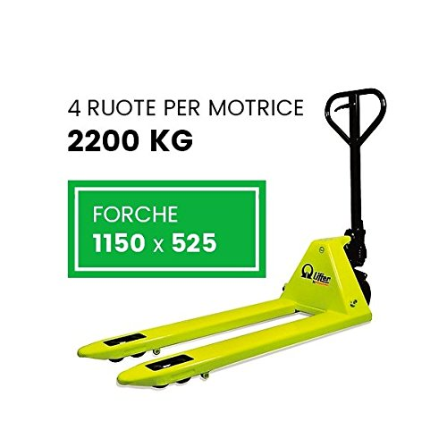 TRANSPALLET MANUALE 2 FORCHE 1150X525 4 RUOTE