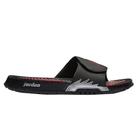 Nike Mens Jordan Hydro V Retro Black Red Synthetic Sandals 45 EU
