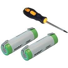 HQRP Paquete de 2 baterías recargables Braun BS5771 / Type 5497 / 8975 / 8986 / 8987 Rasoir + HQRP Destornillador y Posavasos