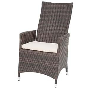 siena garden 167567 move ii fauteuil aluminium marron coussin beige jardin. Black Bedroom Furniture Sets. Home Design Ideas