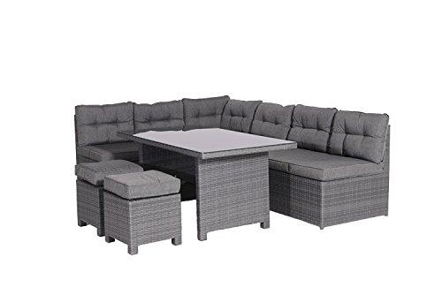 Garden Impressions 03640GY Lounge Dining Set, Earl Grau, 237 x 174 x 75 cm