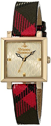Vivienne Westwood VV087GDBR Orologio da Polso Donna, Pelle