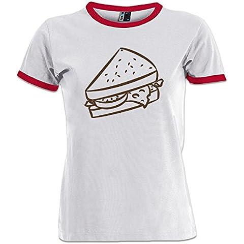 Camiseta contraste de mujer Sandwich by Shirtcity