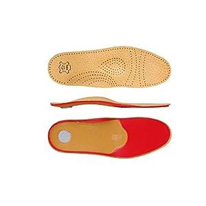 """KAPS Schuheinlagen """"Relax – Shock Absorber Pecari"""" Premium Einlegesohlen aus pflanlich gegerbtem Pecari Leder und Memoryschaum – Pelotte, Mittelfußstütze und Fersenpolster"""