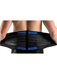 Sell-A-Service - Faja lumbar de neopreno (tallas S, M, L, XL y XXL) Black and Blue Talla:X-Large (36-40) inches