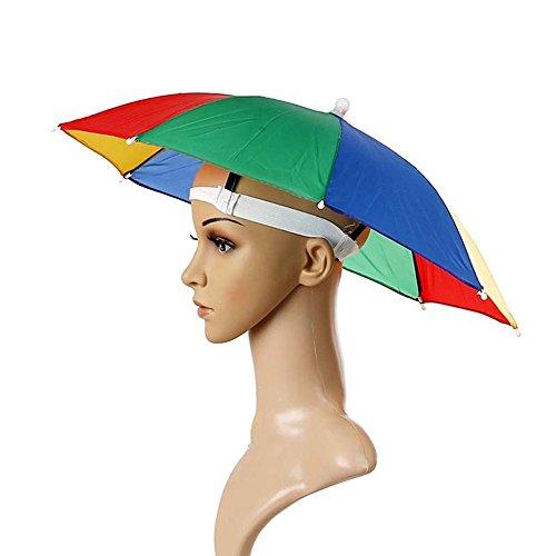 sungpunet diadema ajustable sol paraguas sombrero diadema, sol lluvia paraguas sombrero gorra de Cap, para pesca
