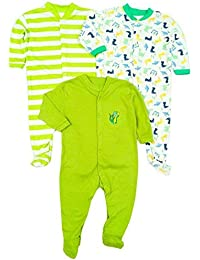 233fa0a08a9a MINI BERRY New Born Baby Multi-Color Long Sleeve Cotton Sleep Suit Romper  for Boys