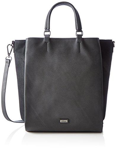 soliver-bags-damen-shopper-schal-schwarz-schwarz-165x38x34-cm