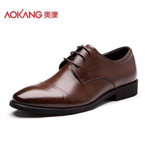 aemember Herren Schuhe Business Herren Kleid Schuhe Hochzeit Schuhe Wild Schuhe, Herren Schuhe eine große Anzahl, 42, braun (Bubble Kleid Schuhe)