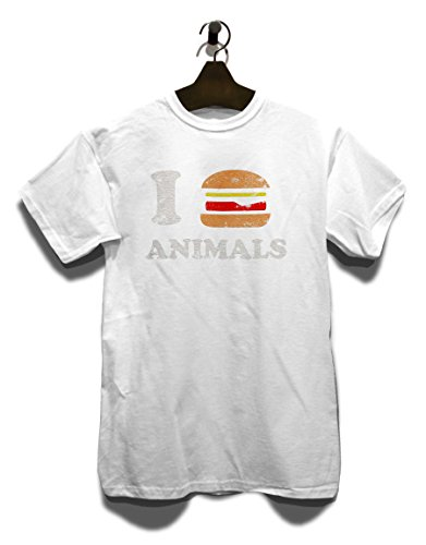 I Eat Animals Vintage T-Shirt Weiß