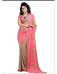 Tryme Fashion Women'S Georgette Saree With Blouse Piece (Try.Fab Saree 282_Multicolor)