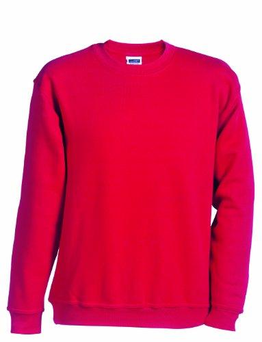 James & Nicholson Herren Sweatshirt Rot (Red)