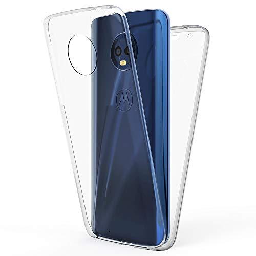 a98646a09c7 NALIA Funda Integral Compatible con Motorola Moto G6, Carcasa Completa con  Cristal Templado, Ultra