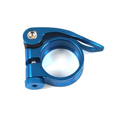 About1988 Fahrrad Schnellspanner, Sattelstütze, Sattel-klemme, Sattel-schelle, Klemmring, Sattelstützenklemme, Schnellverschluss in 31,8mm (Blau) - Blau Sattelstütze Klemme